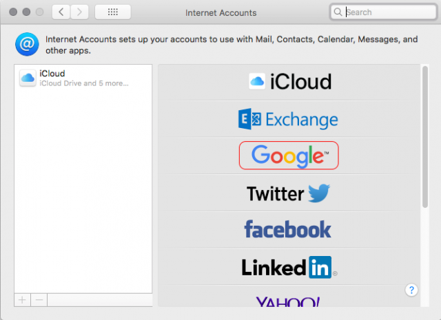 apple internet accounts