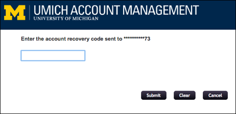Screenshot of Reset Password page.
