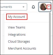 My Account screenshot