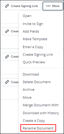 Sign Now screenshot with Renaming highlighted