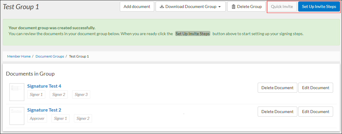document group page screenshot