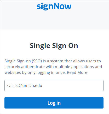 sign now screenshot with second login box