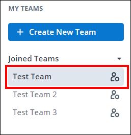 screenshot showing team names