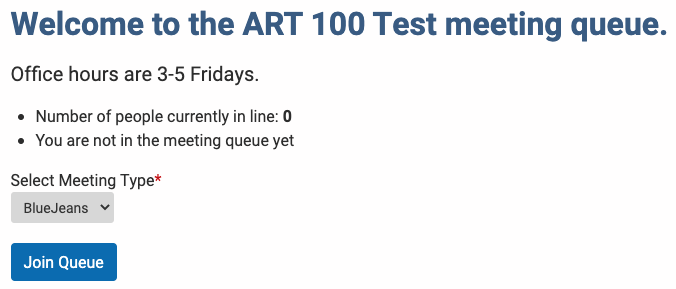 Join the test queue
