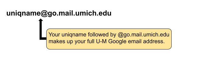 Your address would be youruniqname@go.itd.umich.edu.
