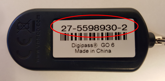 Duo Hardware Token Serial Number