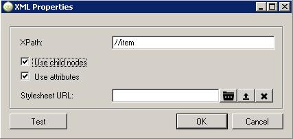 xml properties window