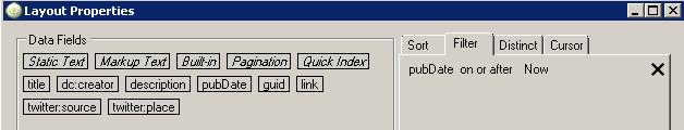 layout properties window