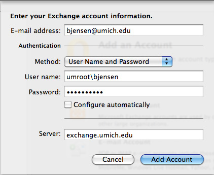 Renaming your account