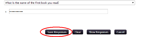 Screenshot showing last question and save responses button is now clickable