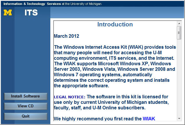 screenshot of screen with introductory text