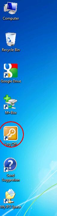 Screenshot of Log Off icon.