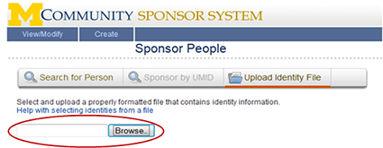 Screenshot of Browse button.