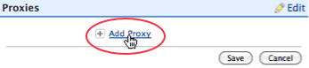 Screenshot of Add Proxy link.