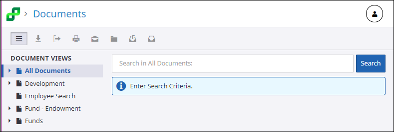 All Documents search screen