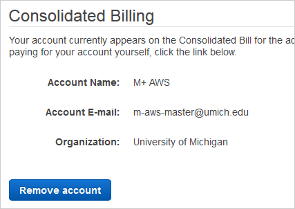 consolidated billing page