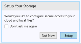 Setup Your Storage