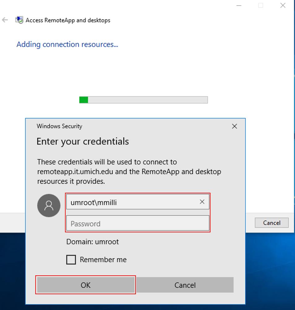 RemoteApp Setup (Windows) | ITS Documentation
