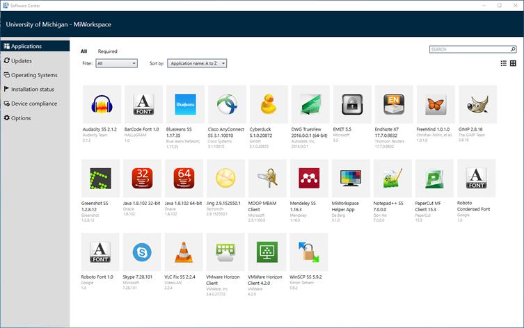 MiWorkspace: Install Software/Manage Updates (Windows ...