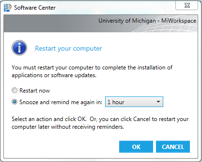 Software Center Restart