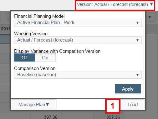 financial plan window
