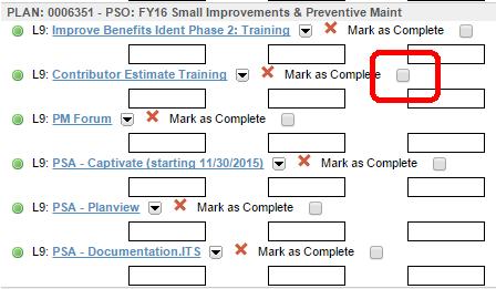 mark complete checkbox