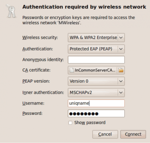 WiFi: Configure Ubuntu Linux Device | ITS Documentation