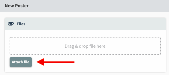 Drag and drop or select Attach file